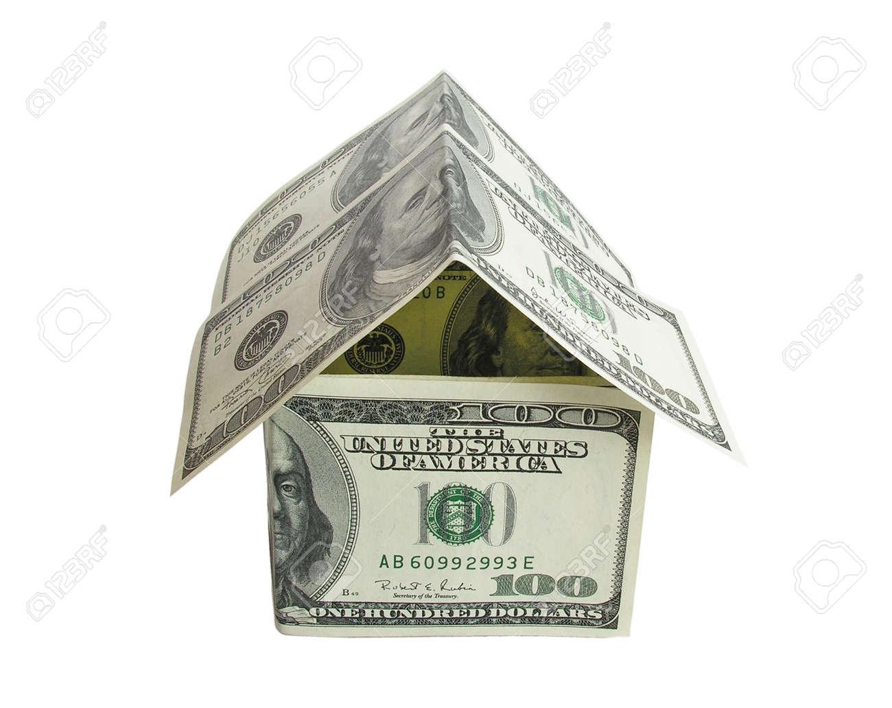 dollar house 2 Stock Photo - 424952