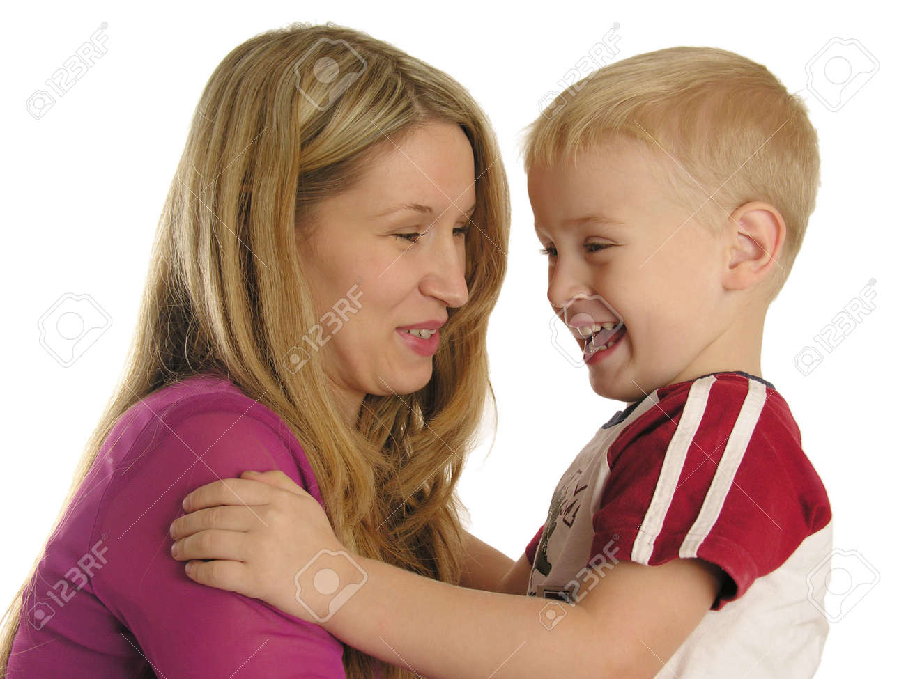 smiling mother with son Stock Photo - 430393