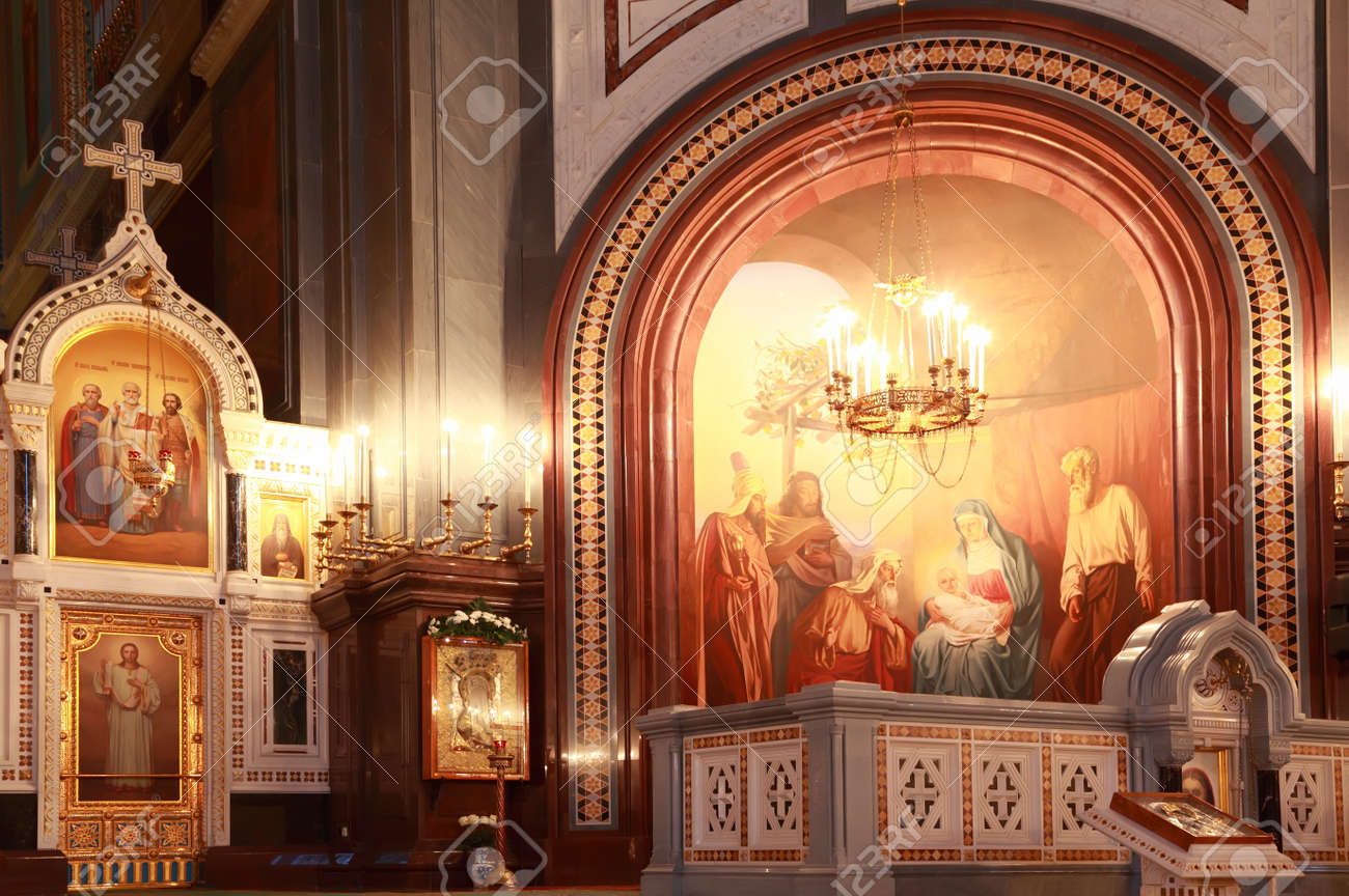 Arch With Painting Near Altar Inside Cathedral Of Christ The