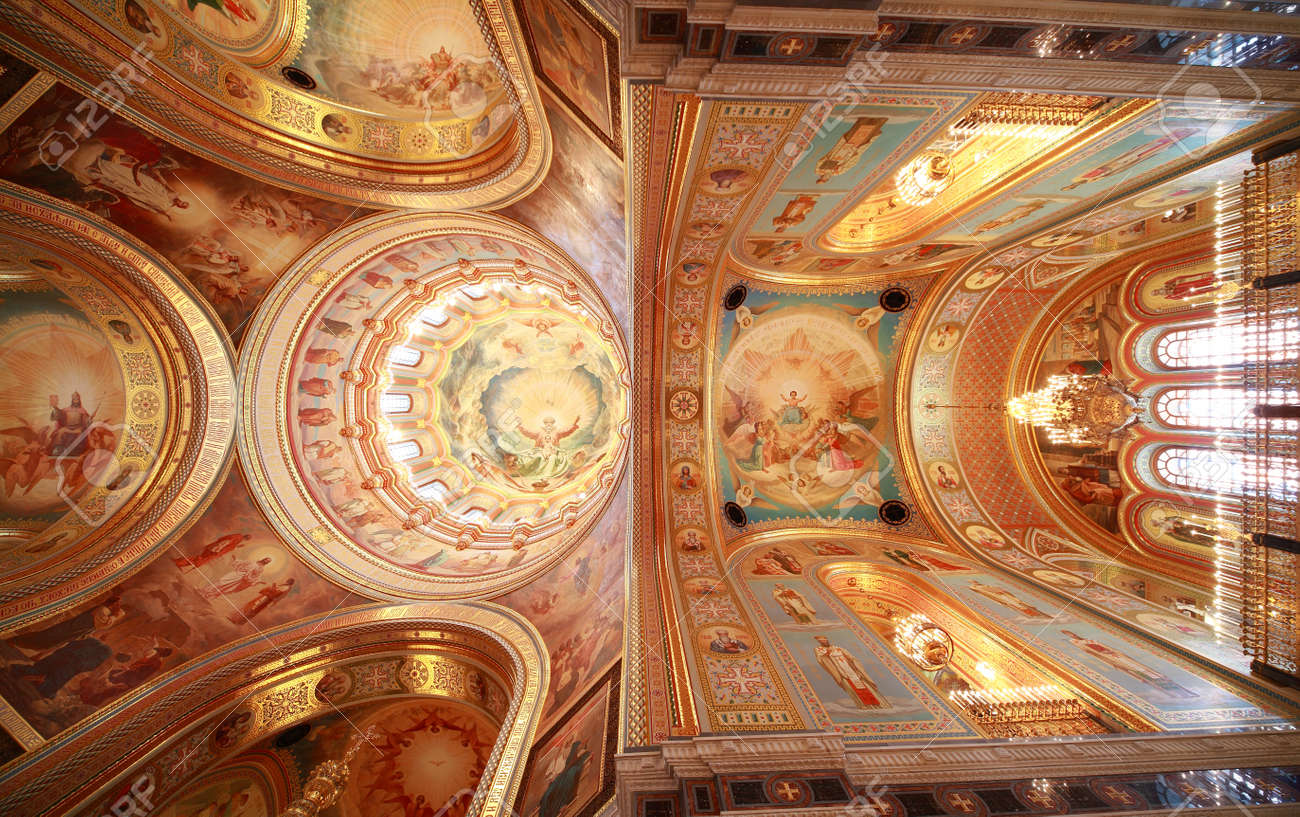 Pictured Ceiling Near Balcony Inside Cathedral Of Christ The