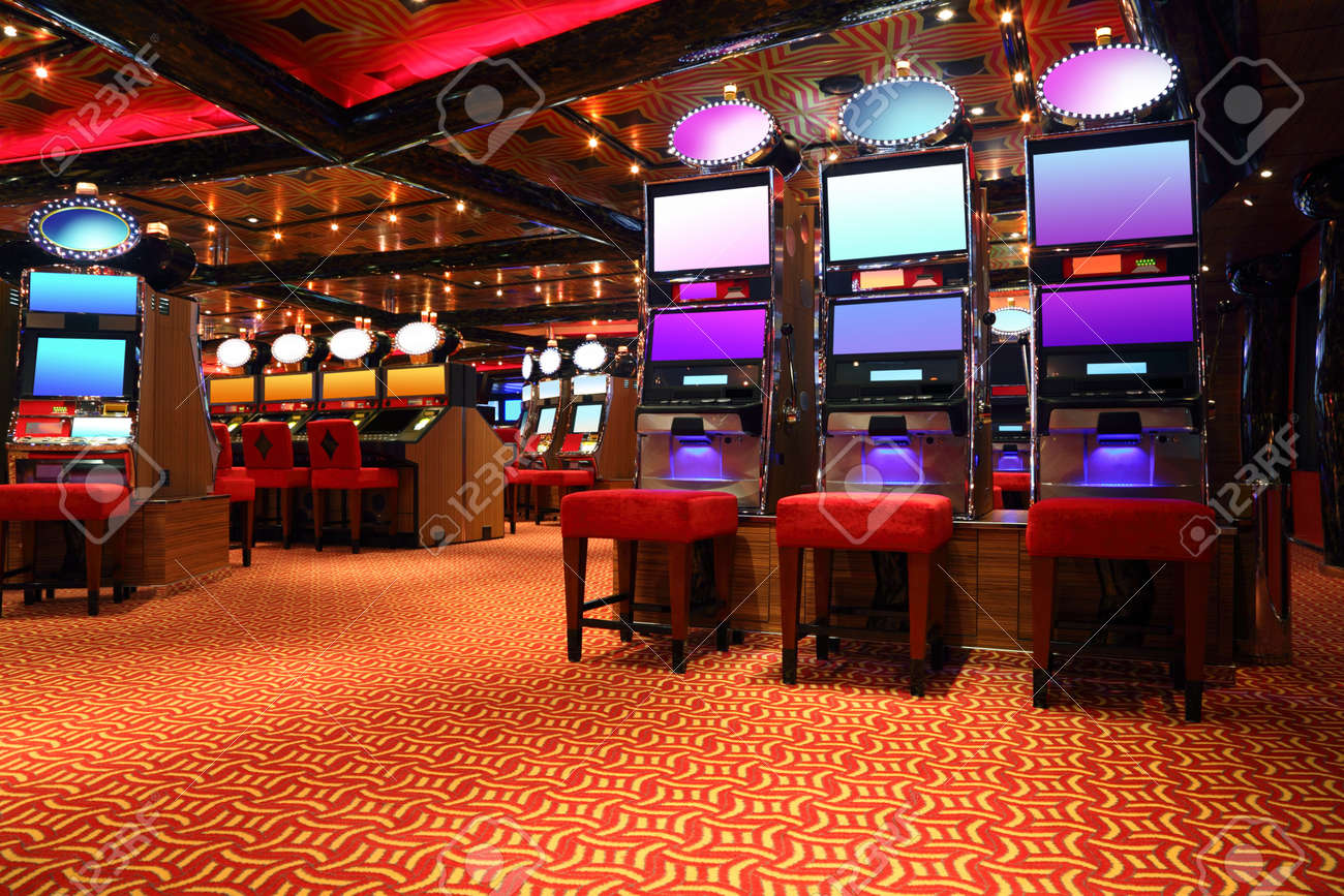 Modern Empty Casino Hall With Game Machines, General View Stock Photo,  Picture And Royalty Free Image. Image 12512930.