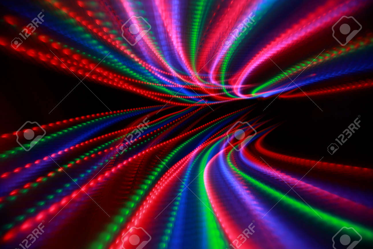 Bright Pink Paint Abstract Colorful Lines On Black Background Bright Pink Red