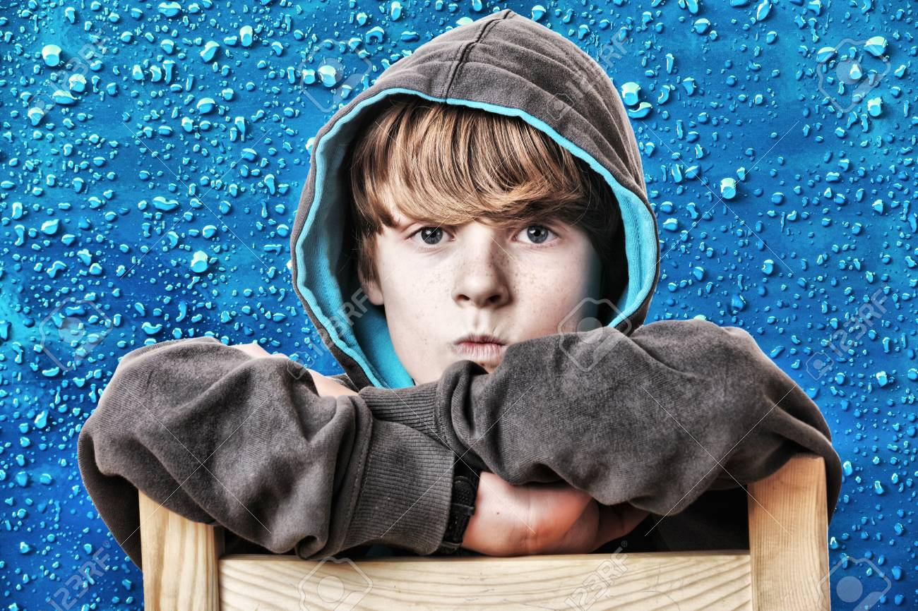 Portrait of an angry young boy Stock Photo - 16763208