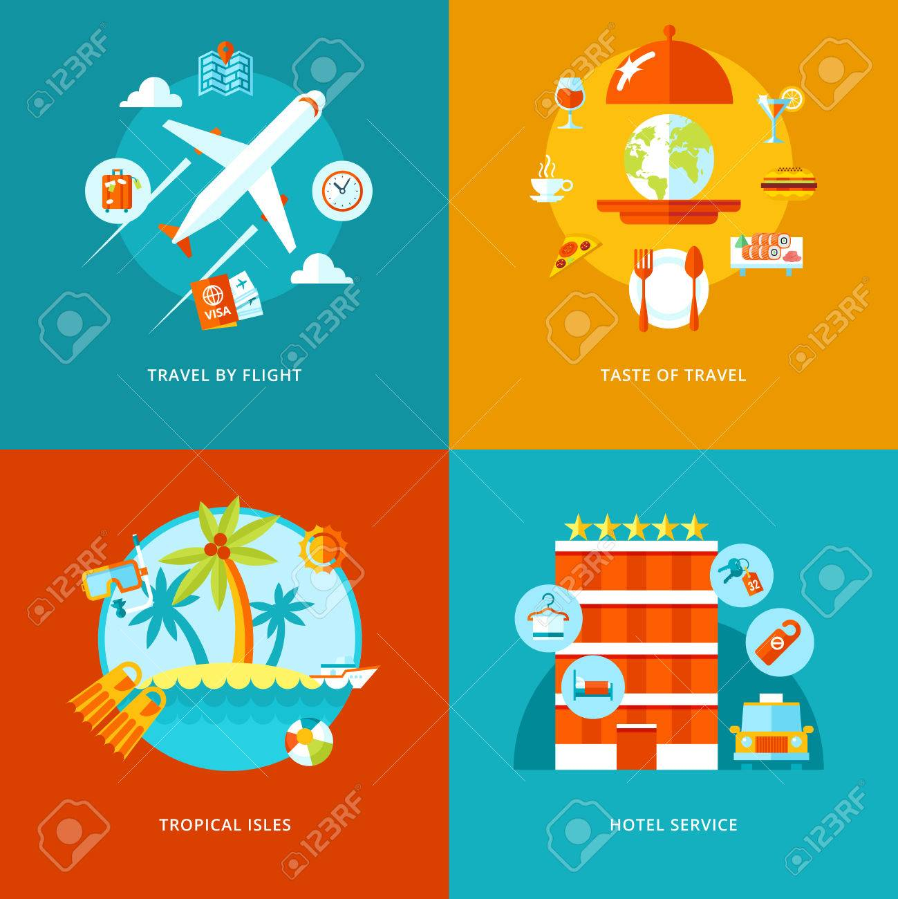 Vector Travel And Tourism Icons Set For Web Design And Mobile Royalty Free Cliparts Vectors And Stock Illustration Image 30830465