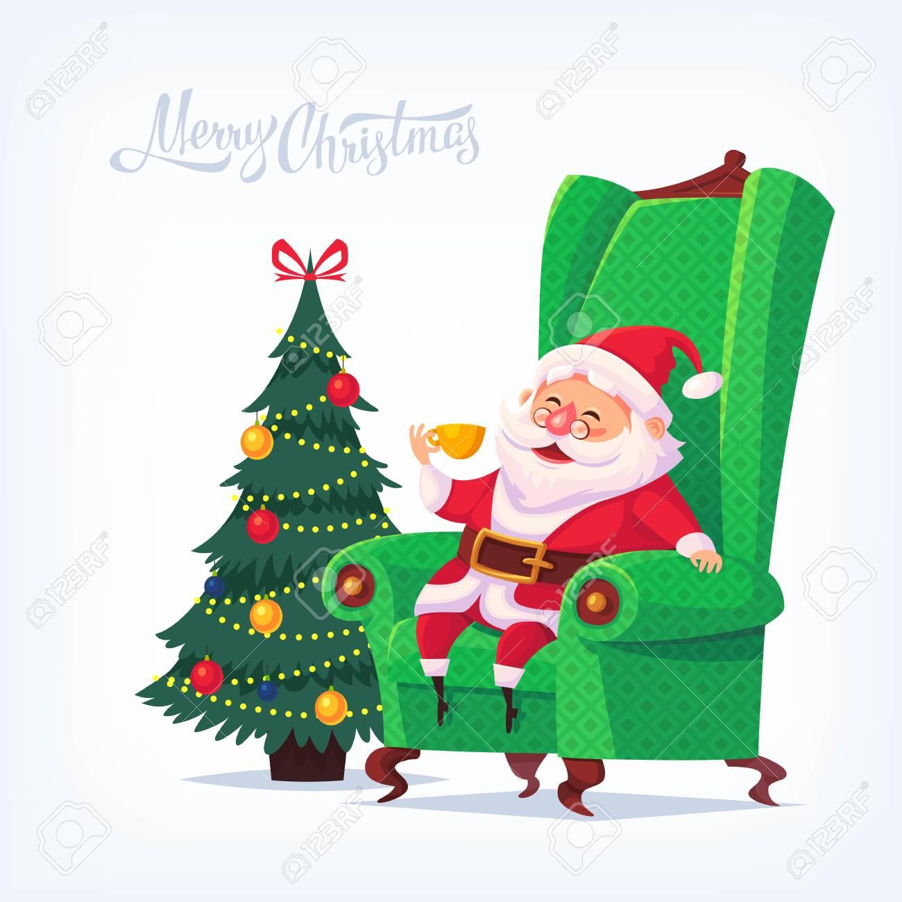 Christmas Vectors.Santa Claus Merry Christmas Vector Cartoon Illustration
