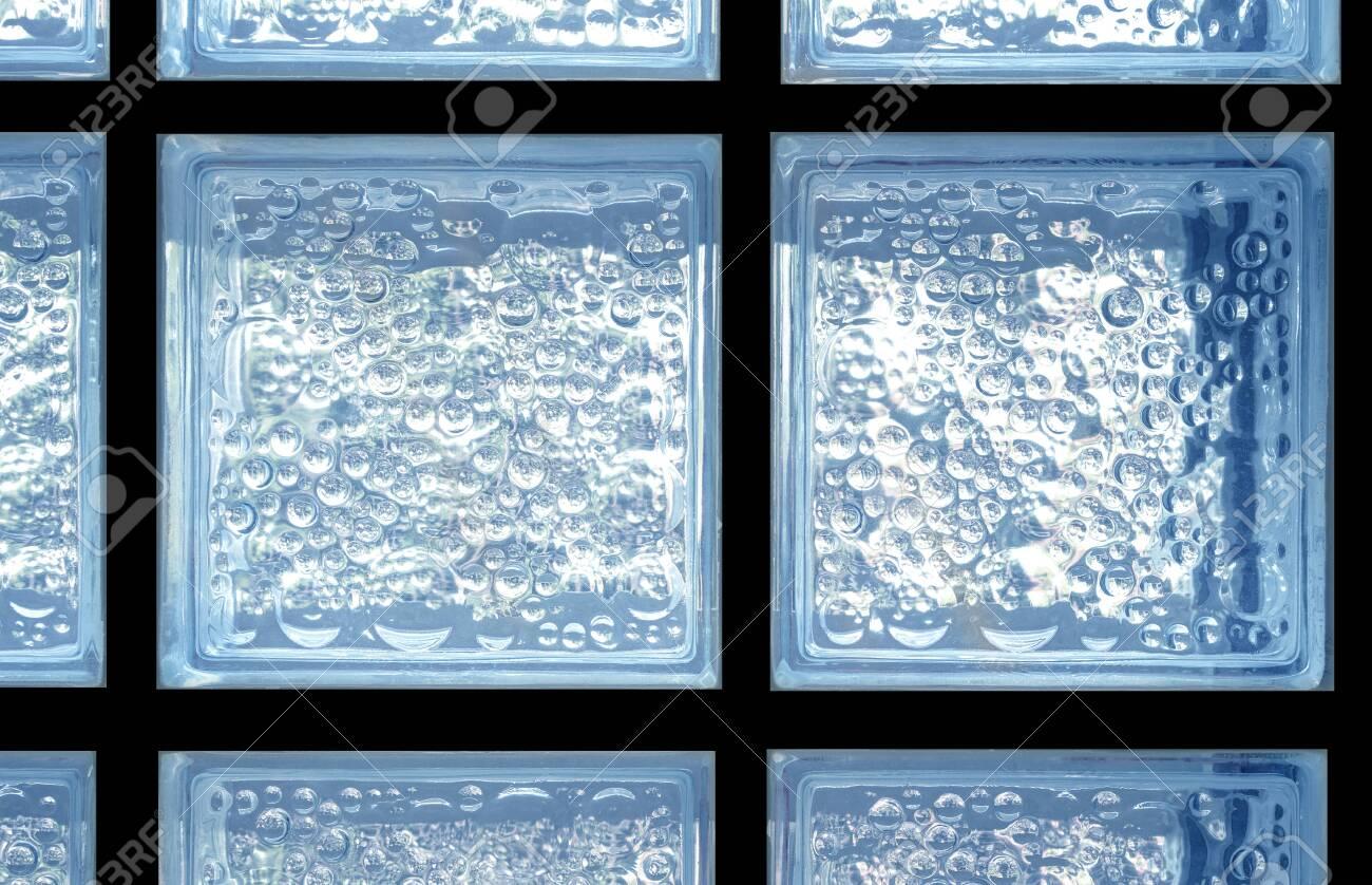 Blue and Silver Bubbles Mirror
