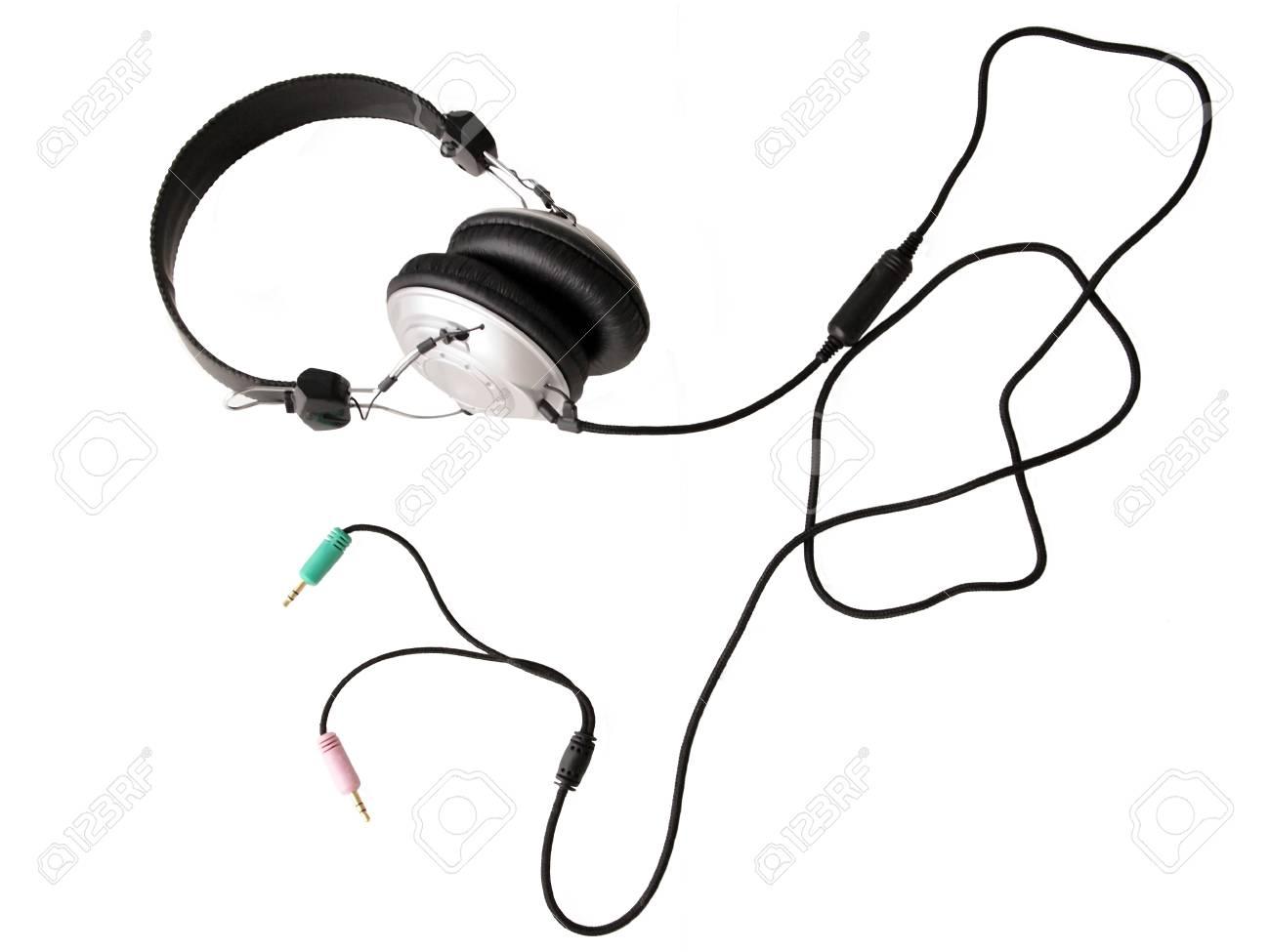 The headphones on white background Stock Photo - 13244998