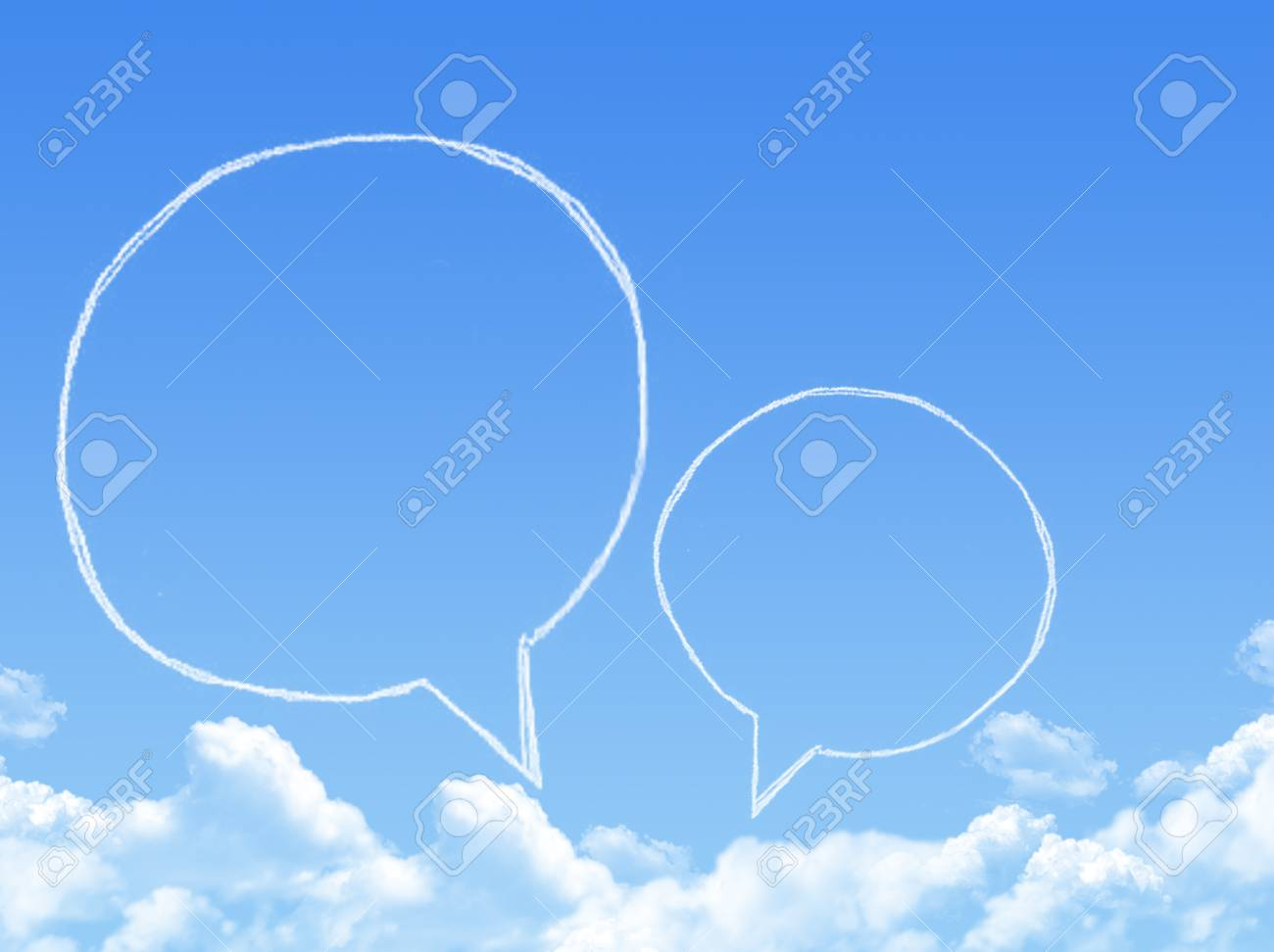 Cloud shaped as chat ,dream concept Stock Photo - 24043538