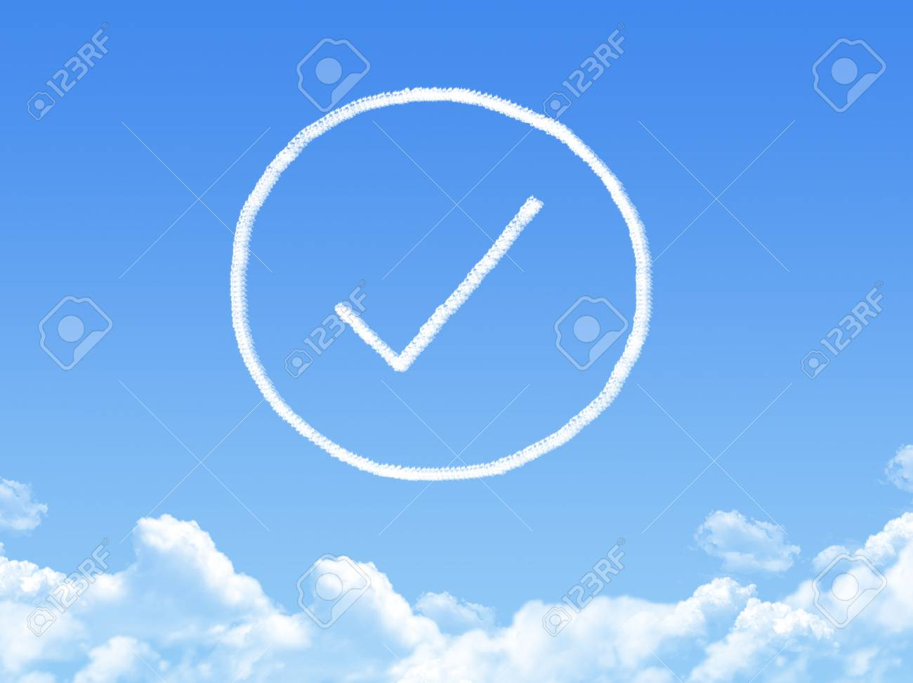 Approved cloud shape Stock Photo - 26339163
