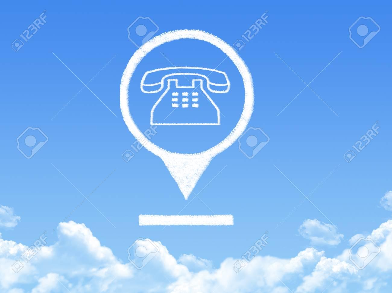 phone location marker cloud shape Stock Photo - 26478843