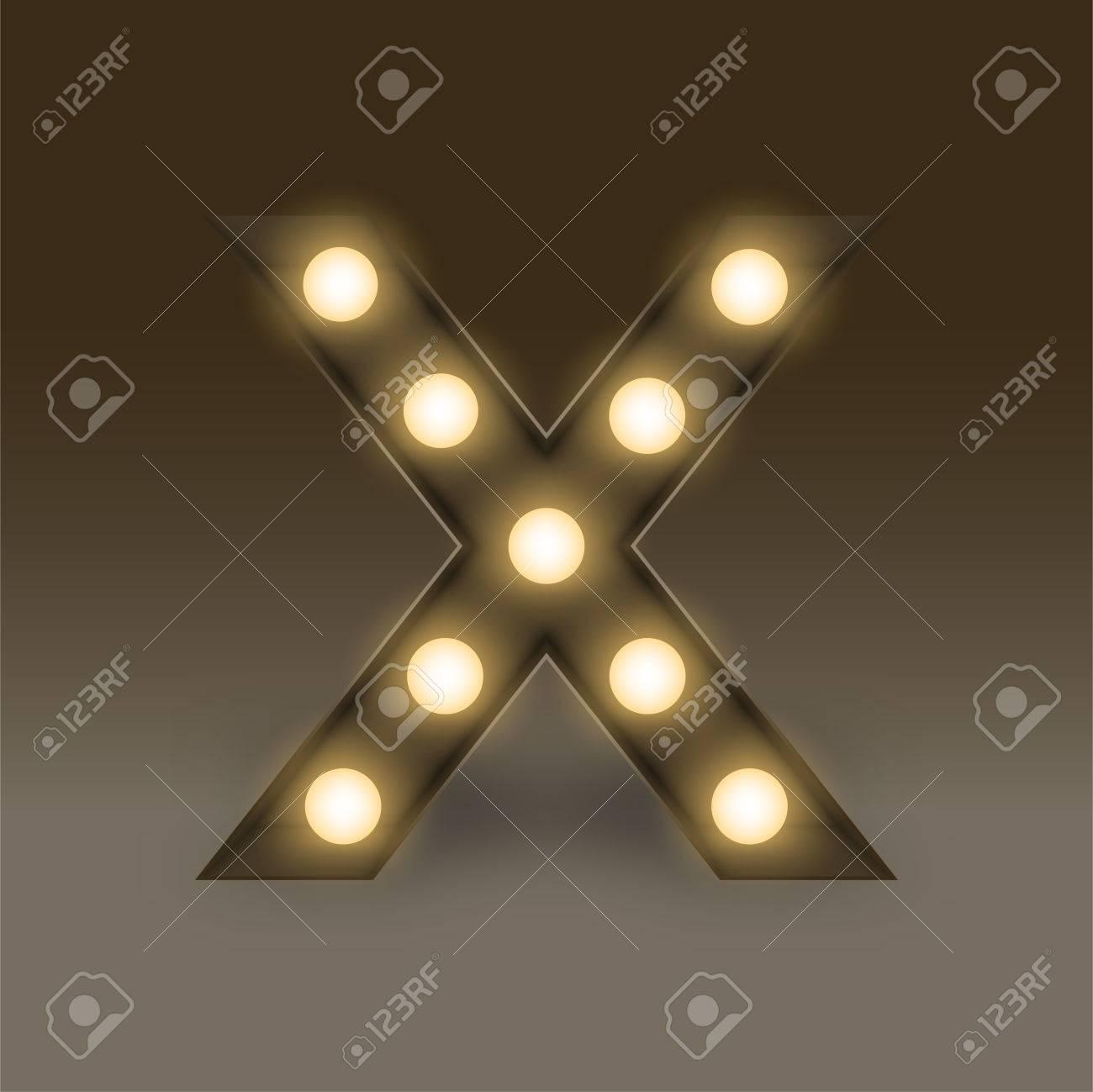 Alphabet Incandescent Gluhbirne Box Set Buchstaben X Abbildung