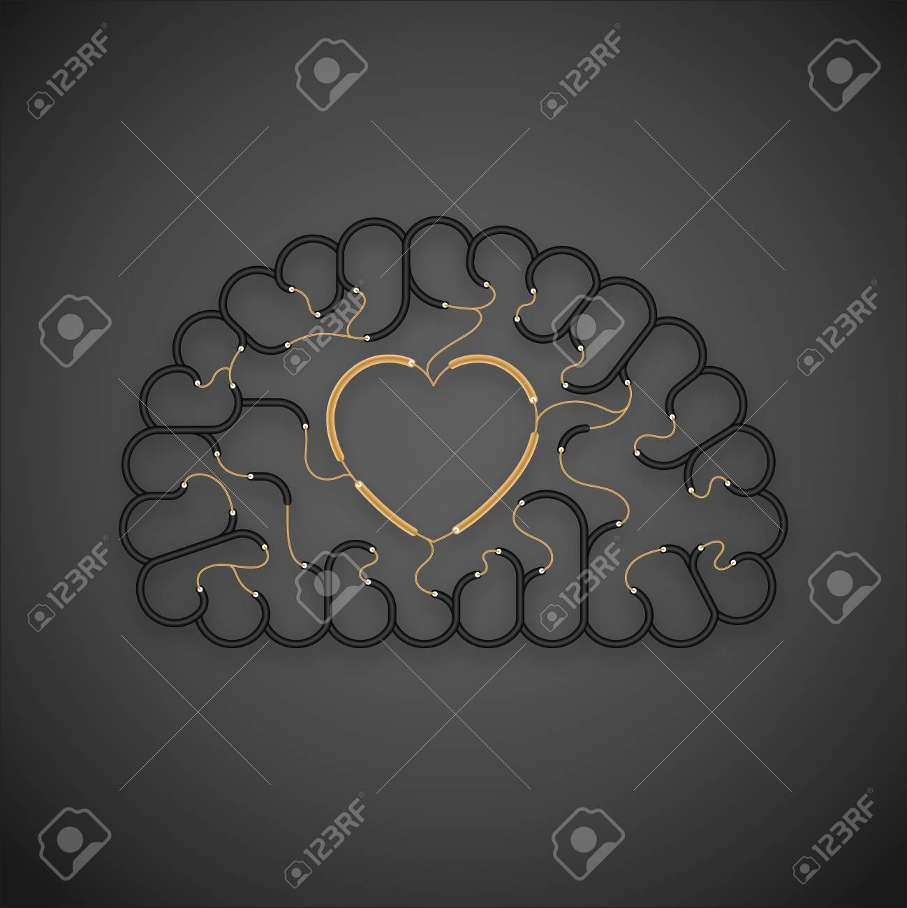 Wire Heart Sign Data Metering Circuit Databasecircuit Schematics Diagrams And Projects Electric Cable Brain Black Color Love Concept Design With Rh 123rf Com Garland