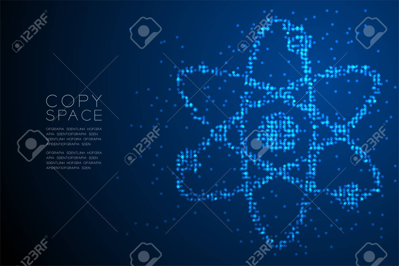 Abstract Geometric Circle Dot Pattern Atom Symbol Shape Science