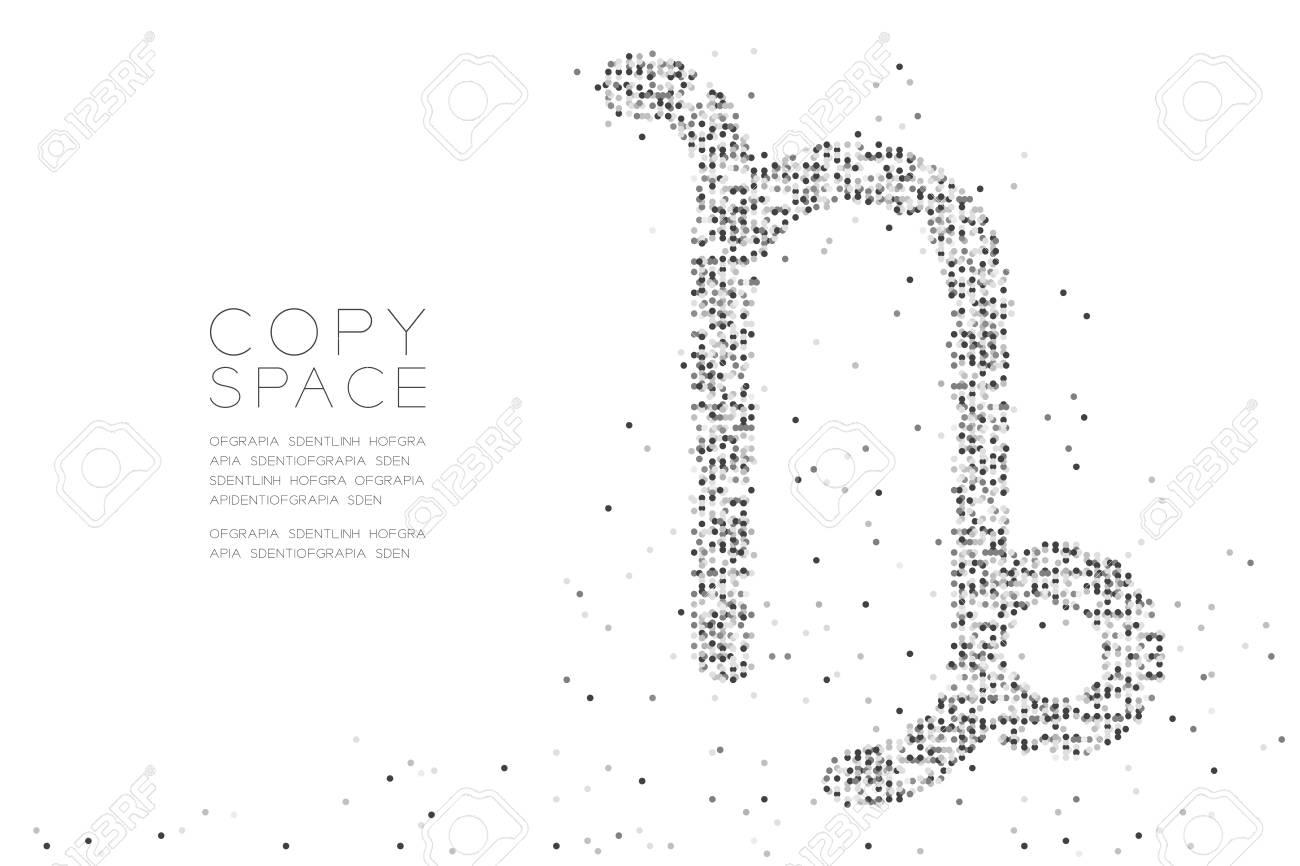 Abstract Geometric Circle Dot Pixel Pattern Capricorn Zodiac Sign ...