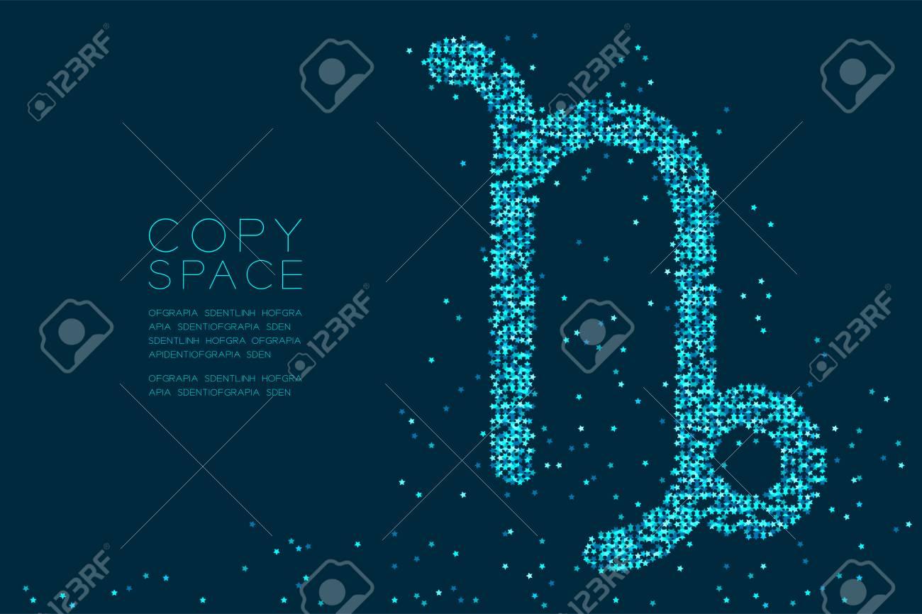 Abstract Star Pattern Capricorn Zodiac Sign Shape, Star ...