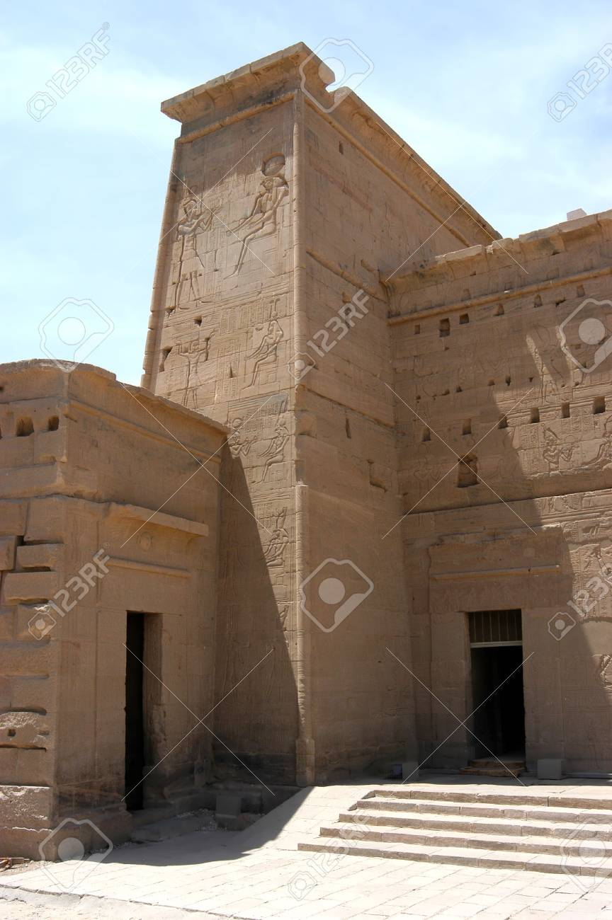 Ptolemy temple on the island of Philae, Egypt Stock Photo - 3281581