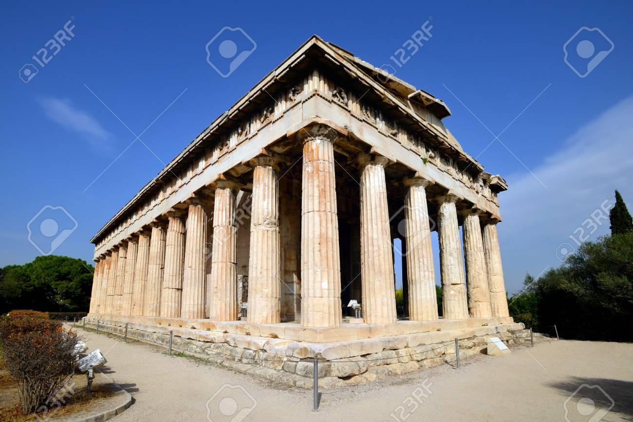 Hefesto El Templo Más Conservado De La Antigua Grecia Atenas Fotos Retratos Imágenes Y Fotografía De Archivo Libres De Derecho Image 44187998