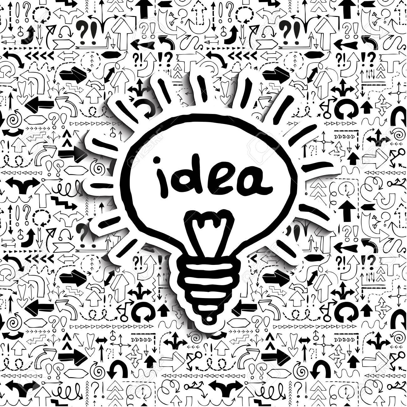 Light bulb icon Concept of a creative idea in a situation of uncertainty - 29673121