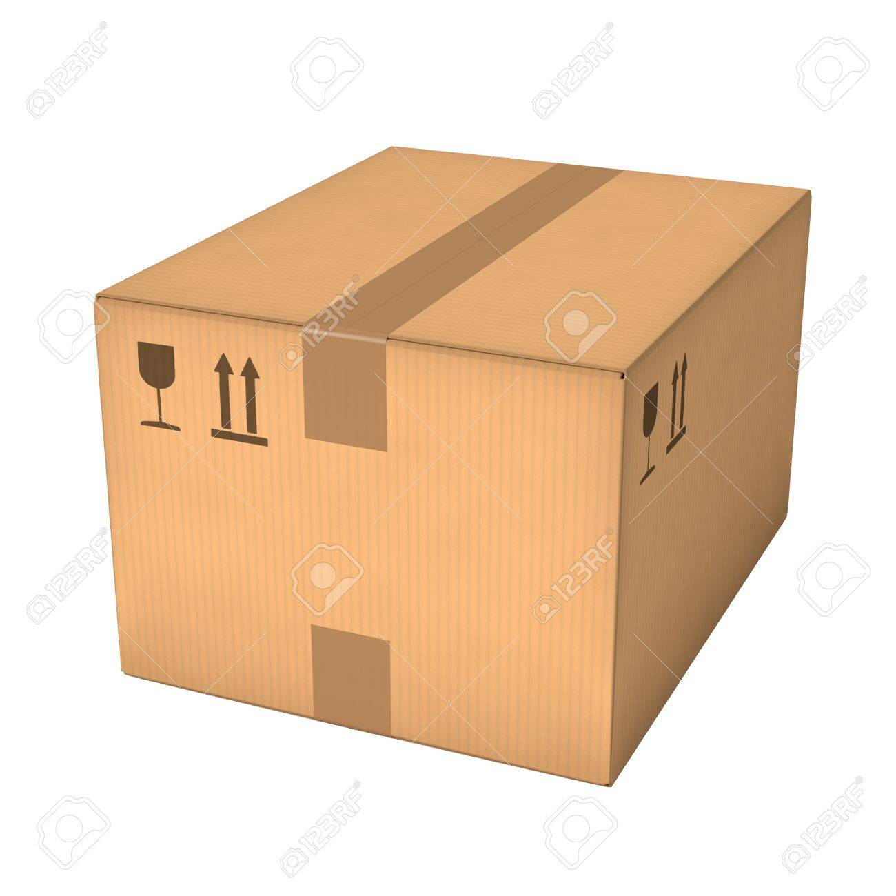 closed cardboard box. closed cardboard box isolated on white background retail logistics delivery and storage concept
