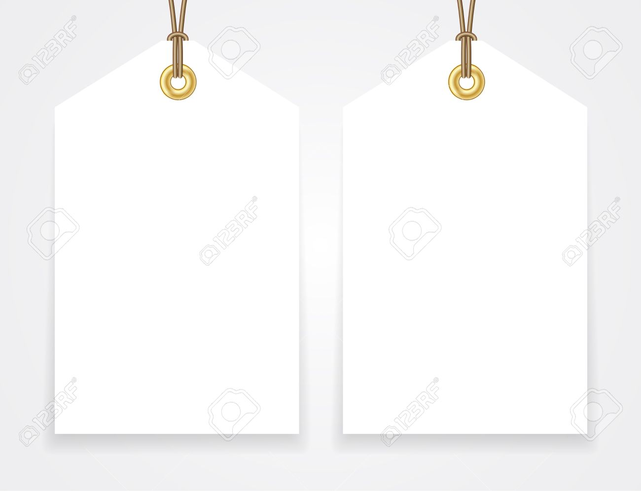 Blank Sale Tags Mock Up Set. Hang Tag With A String. Shopping ...