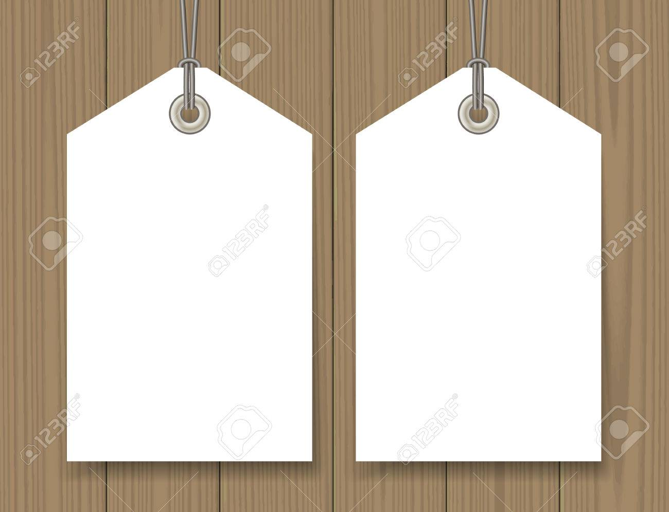Blank Sale Tags Mock Up Set On Wooden Background Hang Tag With – Hang Tag Template
