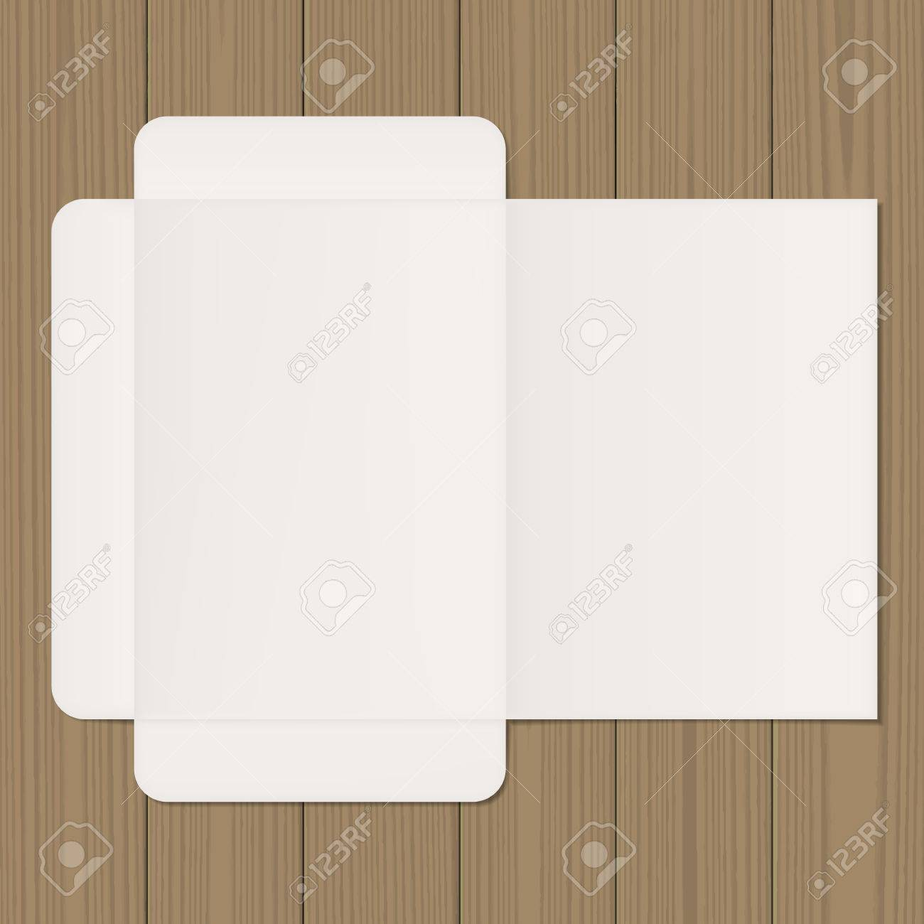 image relating to Printable Light Switch Cover Template identify Open up folder mock up. Blank template upon picket heritage. World-wide-web,..