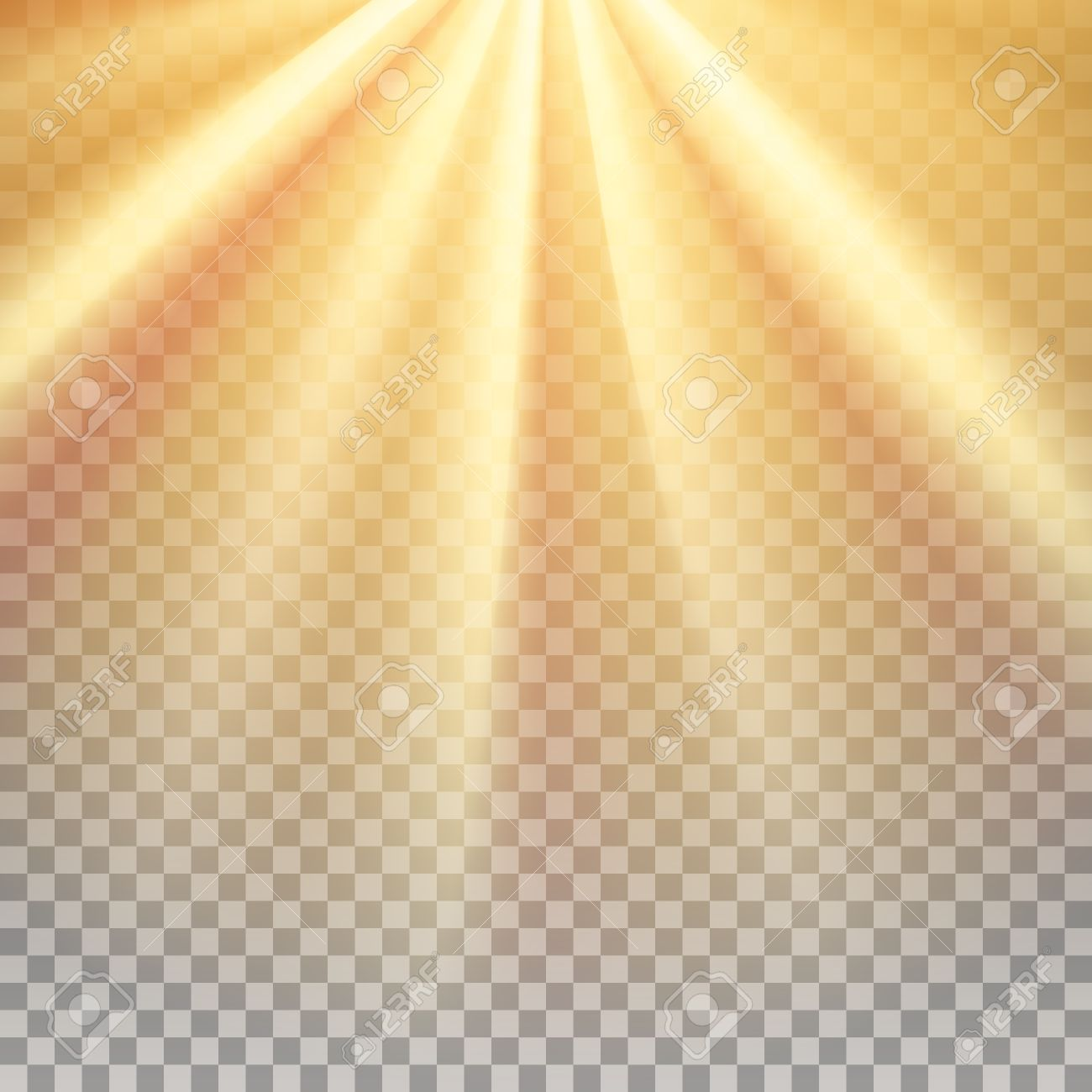 Yellow sun rays. Warm orange flare. Glaring effect with transparency. Abstract glowing light background. - 56554614
