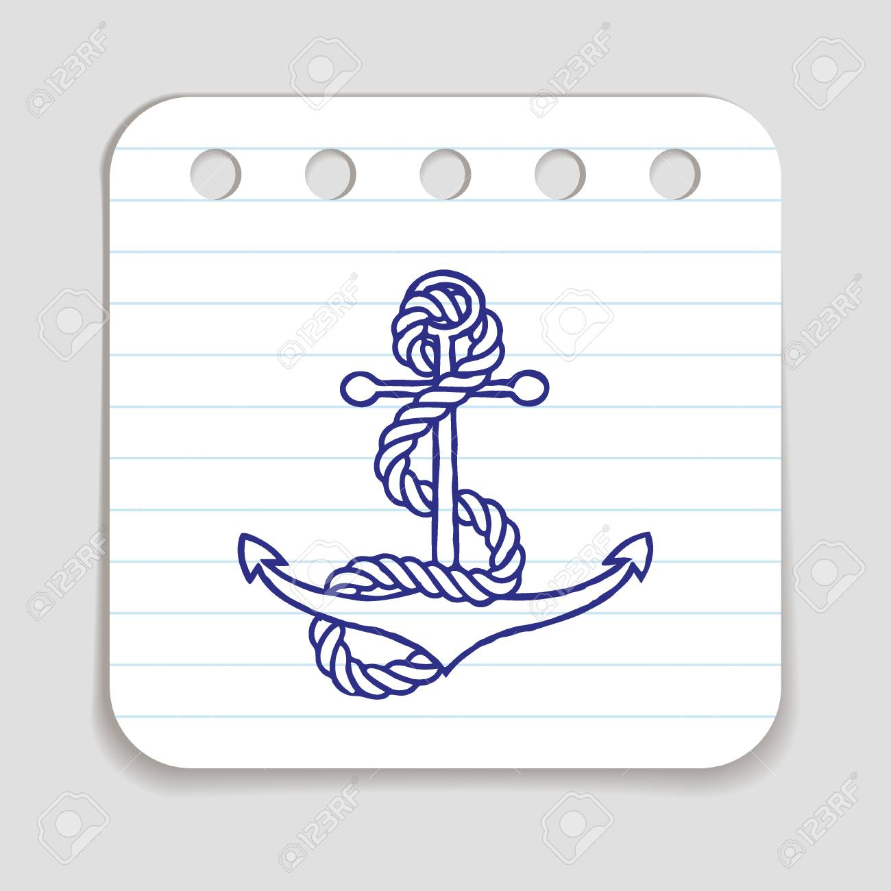 Doodle anchor with rope icon infographic symbol hand drawn with doodle anchor with rope icon infographic symbol hand drawn with pen scribble style graphic biocorpaavc Choice Image
