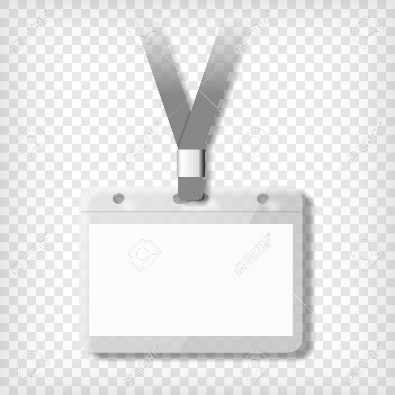 Plantilla De Credencial. Tarjeta De Identificación Brillante Con ...
