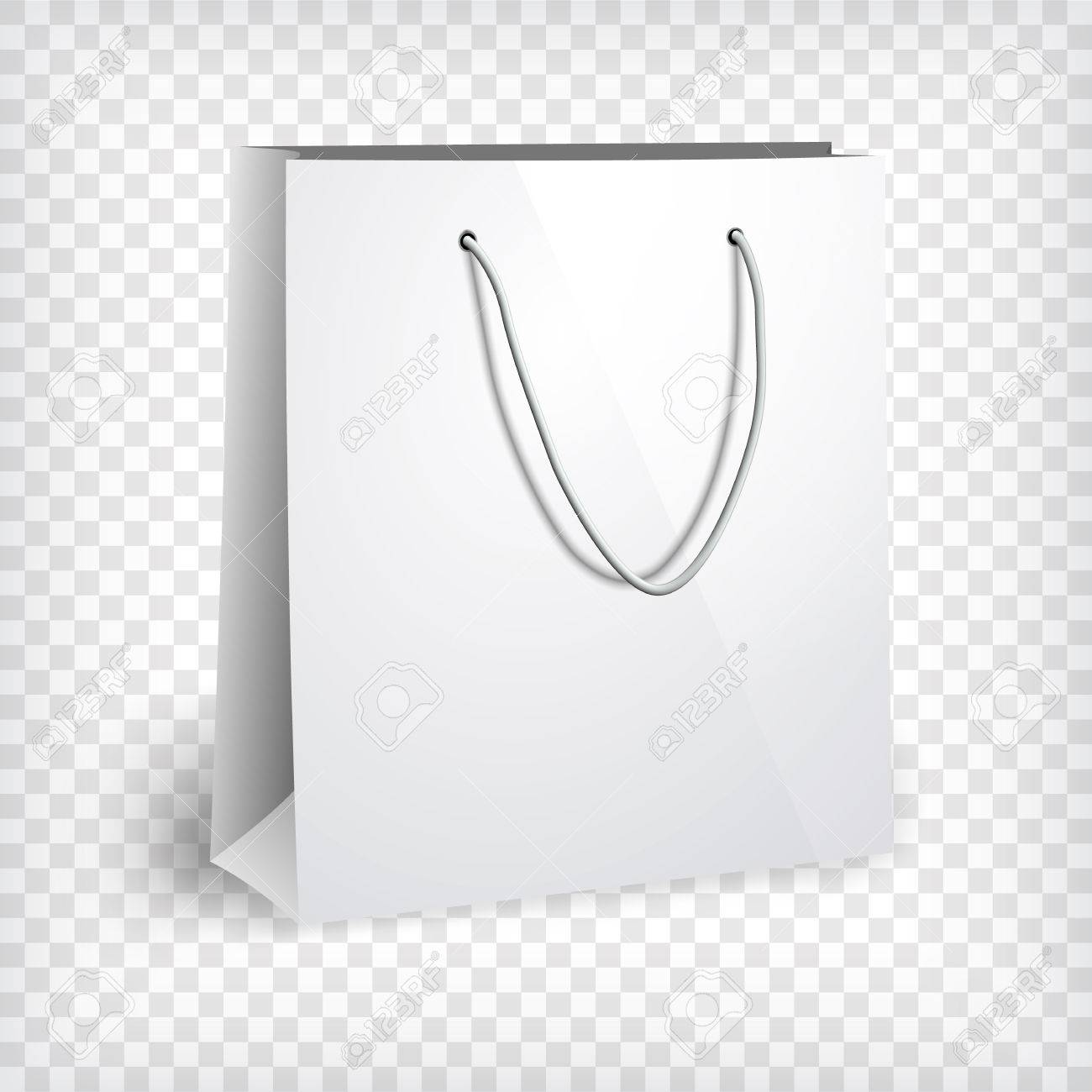 blank paper bag template shopping bag photo realistic template