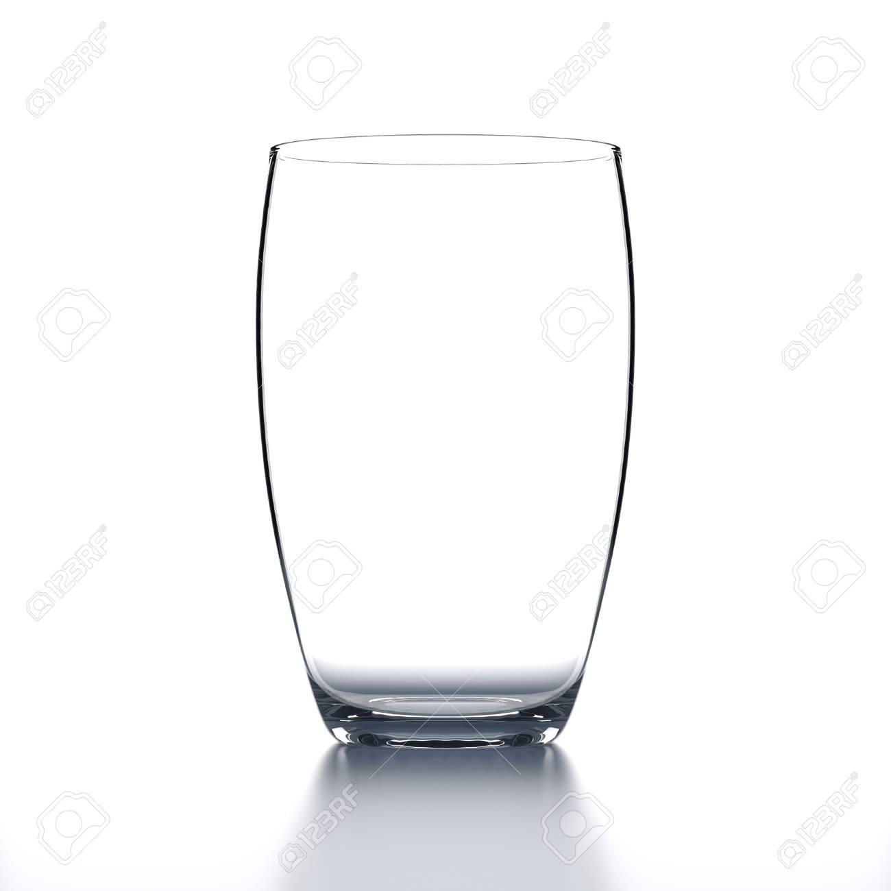 6b2aad5aadc Full Water Glass on black background. Drinking glassware. 3D illustration.  Stock Illustration -