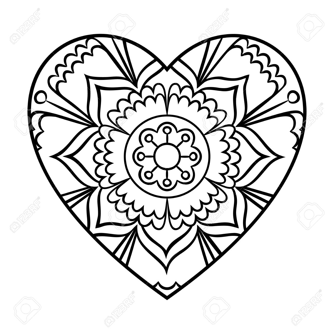 Stunning Heart Shape Coloring Pages Pictures - Triamterene.us ...