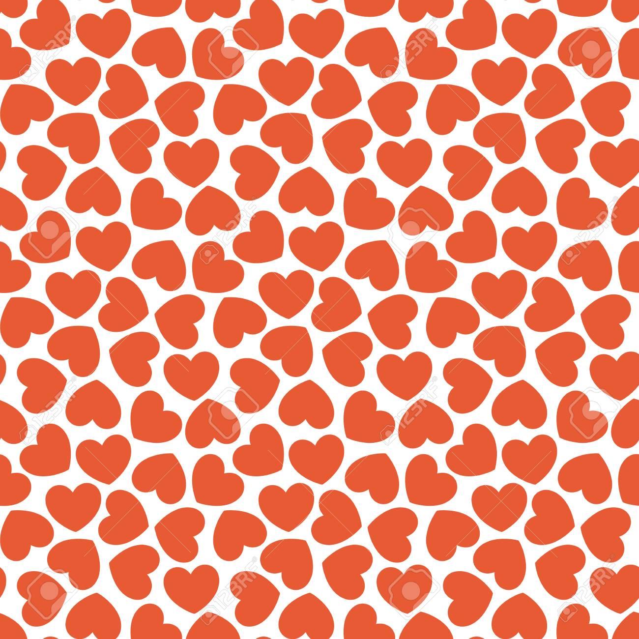 Seamless Heart Pattern Valentines Day Card Wedding Baby Shower