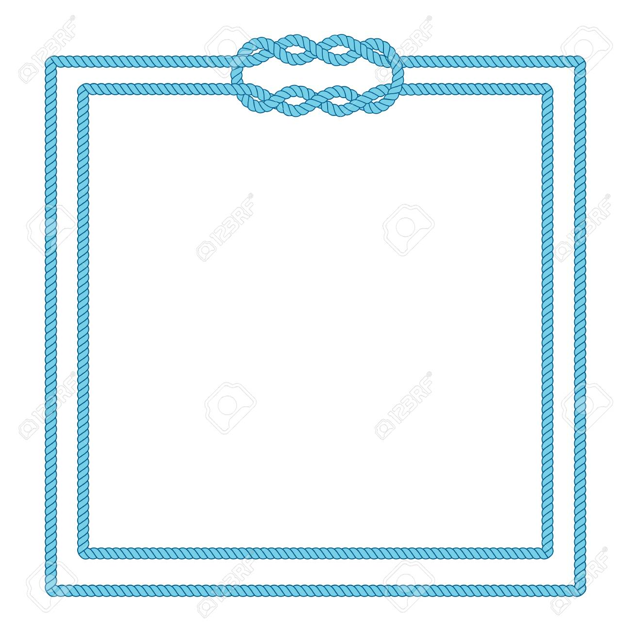 Blank Poster Template With Nautical Border. Wedding Invitation ...