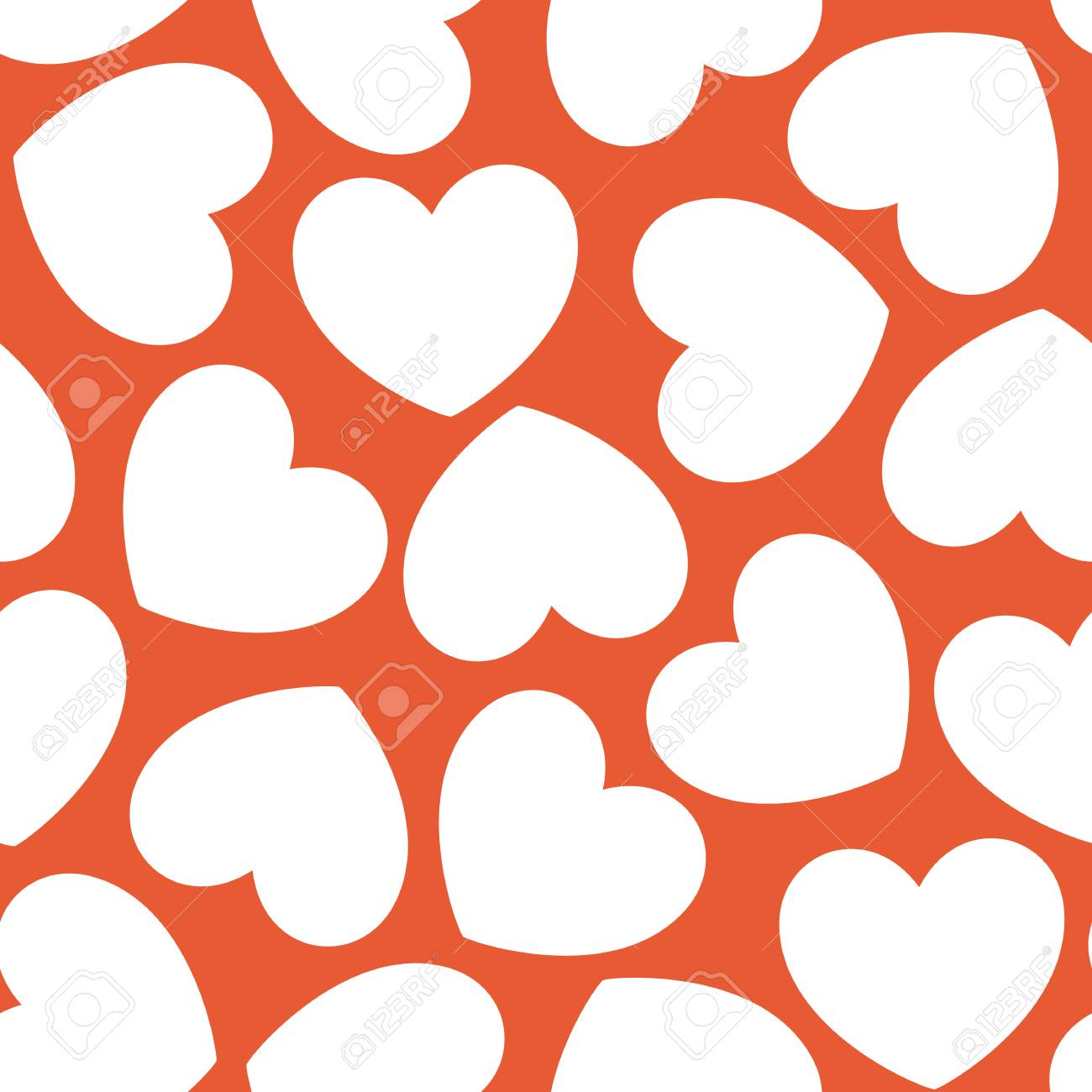 Seamless Heart Pattern Valentines Day Wedding Baby Shower