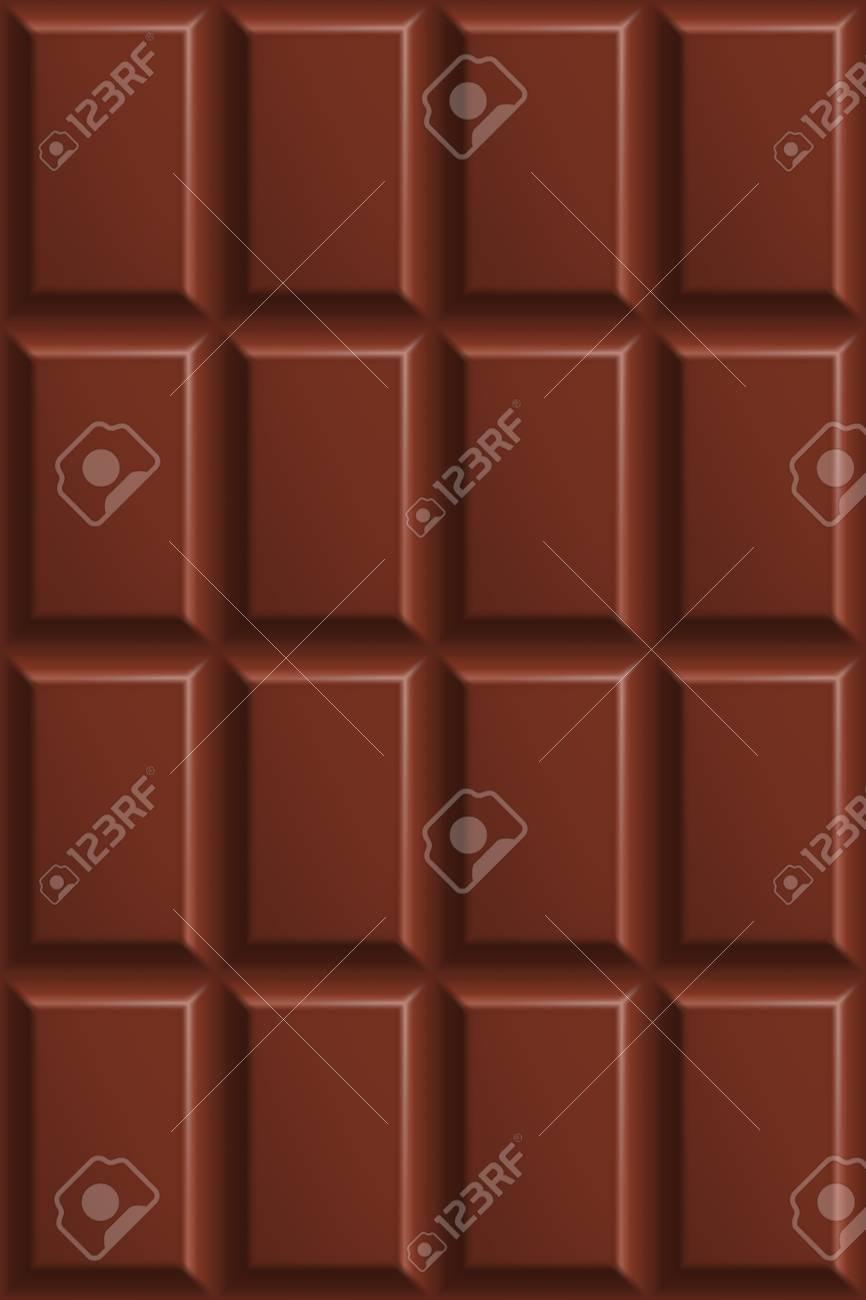ミルク チョコレートのシームレスなパターン ミルク チョコレートの