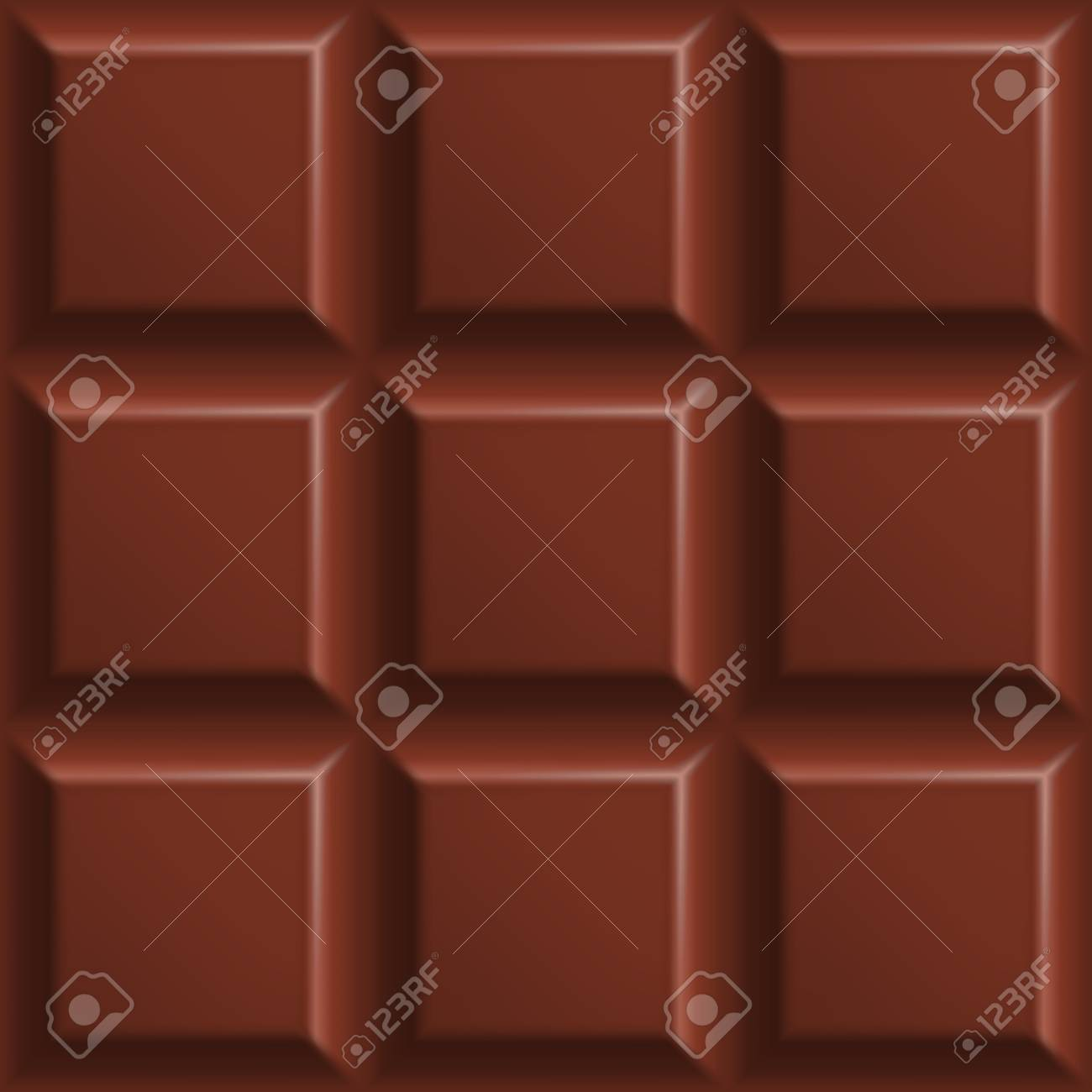 ミルクチョコレートシームレスパターン ミルクチョコレートの正方形の