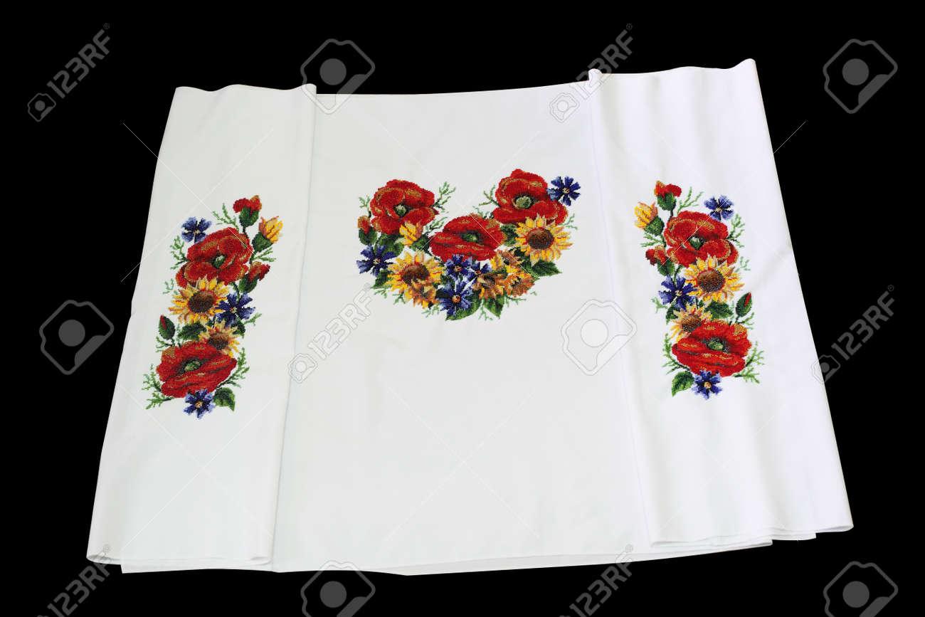 Bordado Ucraniano. Granos Del Bordado. Patrón De Flores Fotos ...