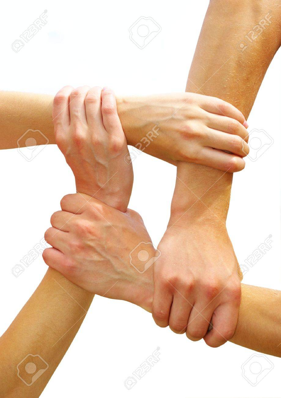 Linked hands Stock Photo - 3753006