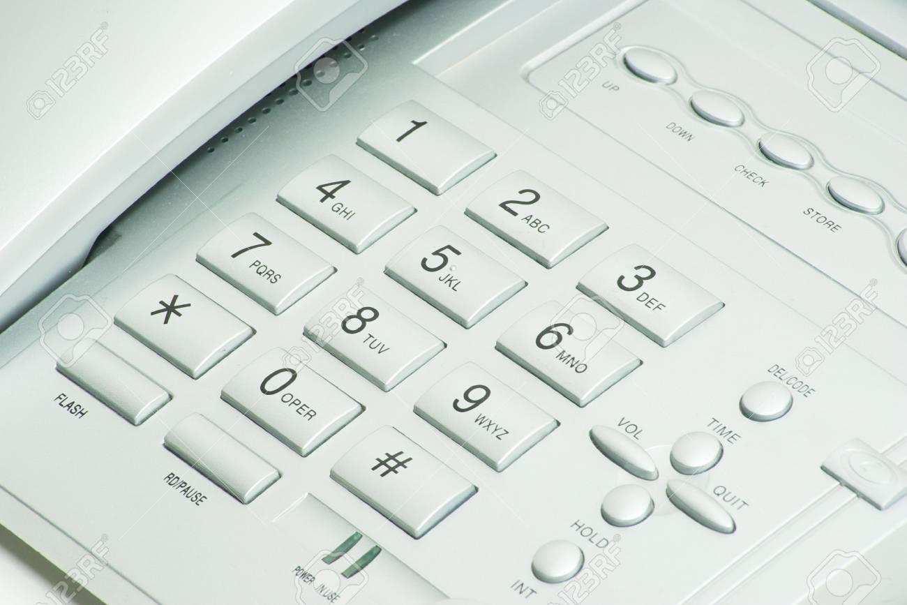 grey phone keypad close up Stock Photo - 6495030