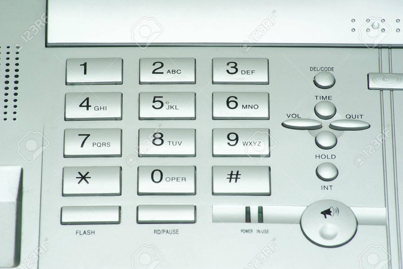 grey phone keypad close up Stock Photo - 6557683