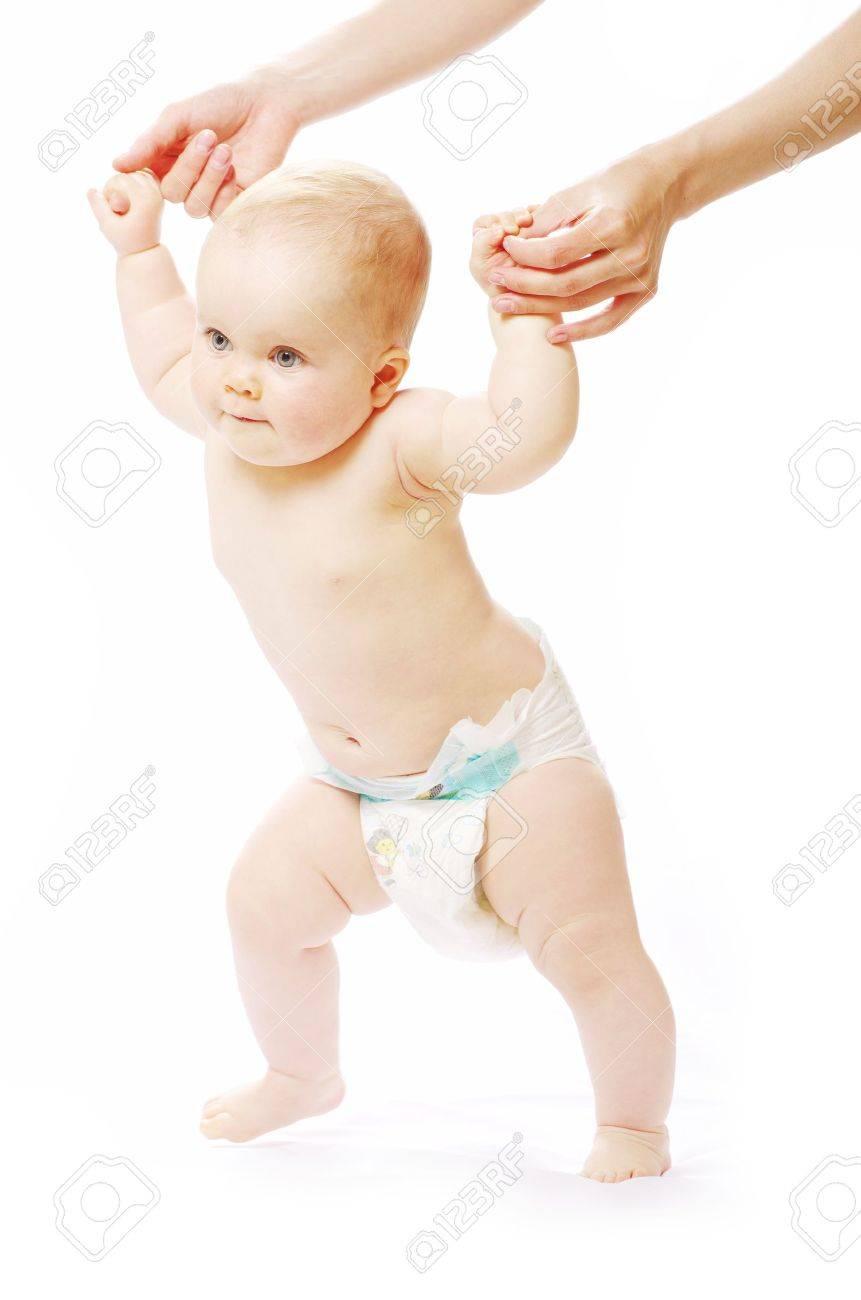 Baby in Diaper Walking Baby Walking Diaper