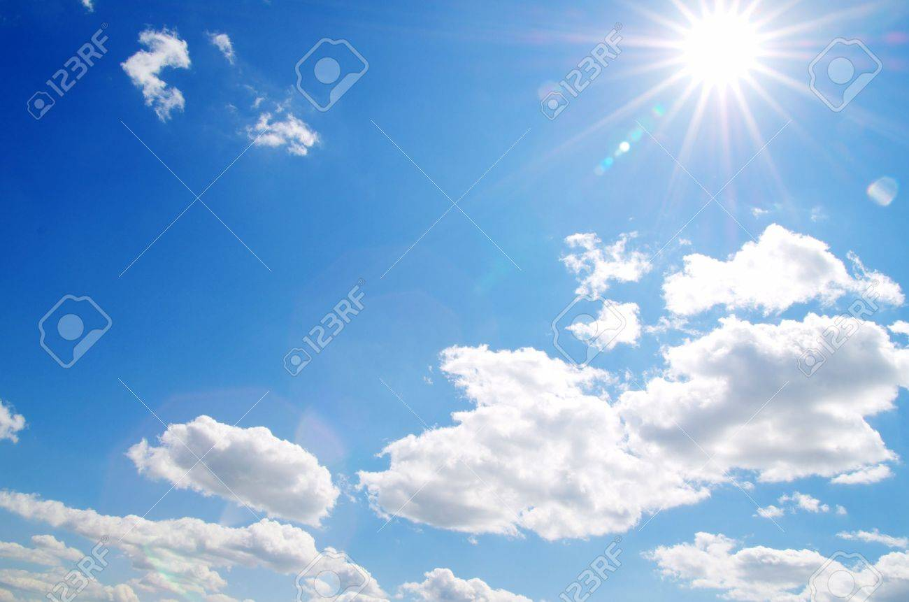 Blue sky background with tiny clouds Stock Photo - 11367654