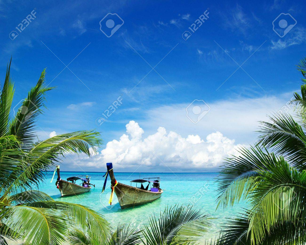 beautiful beach and tropical sea Stock Photo - 13838761