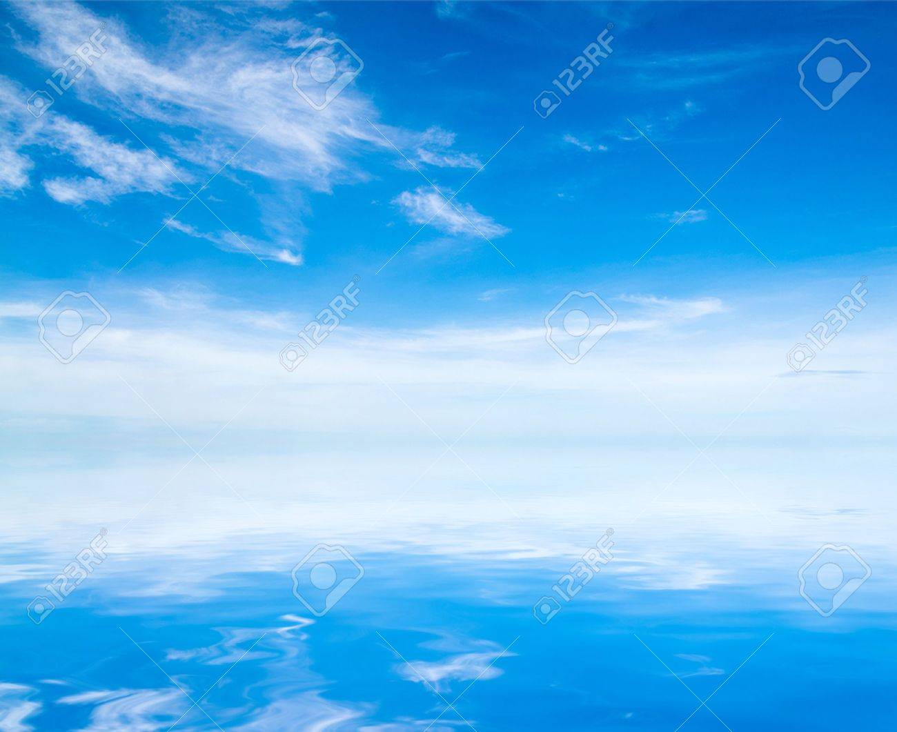 white fluffy clouds with rainbow in the blue sky - 15158092