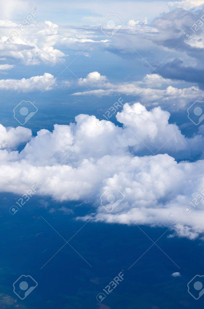 Aerial sky and clouds background Stock Photo - 15220520