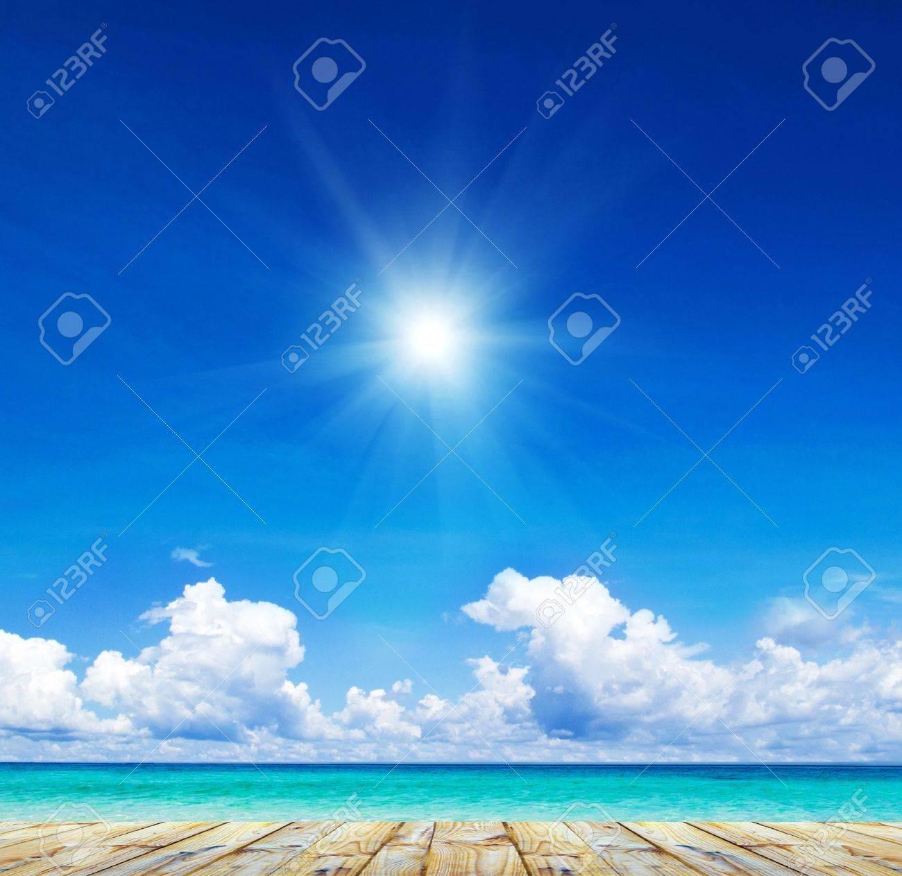 beautiful beach and tropical sea Stock Photo - 15635873