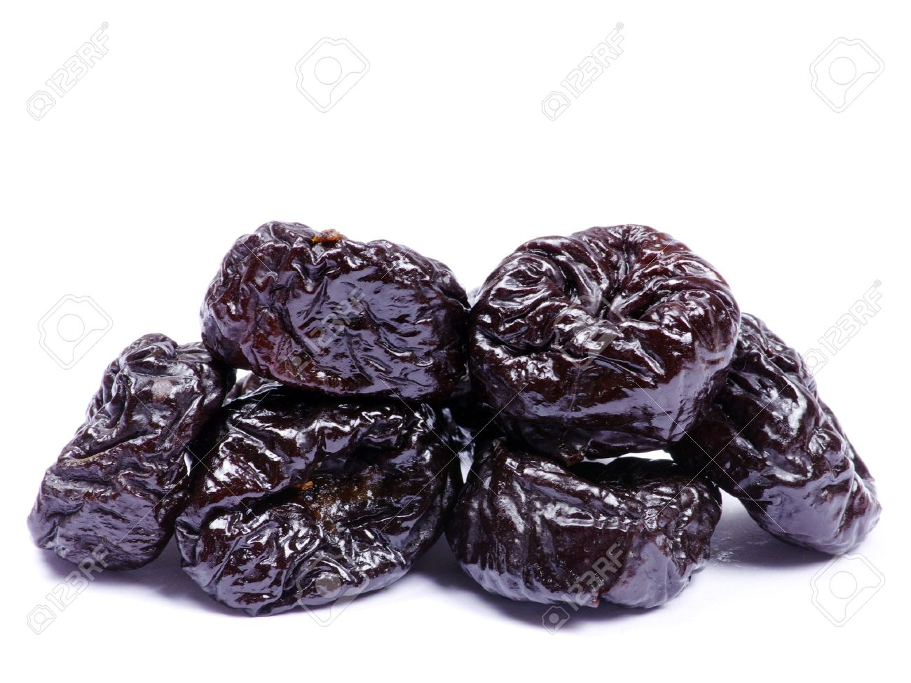 Dried plum on a white background Stock Photo - 15636312
