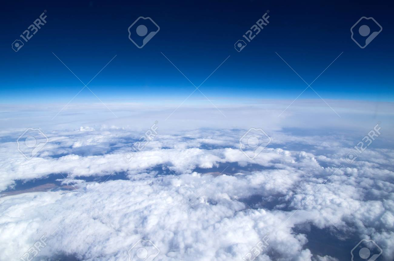 Aerial sky and clouds background Stock Photo - 16596436