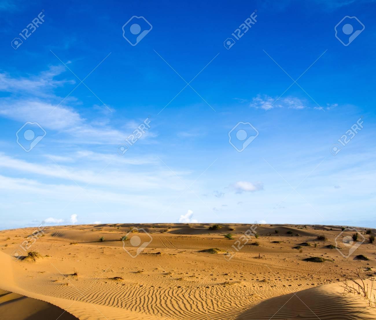 Desert landscape with blue sky Stock Photo - 16604019
